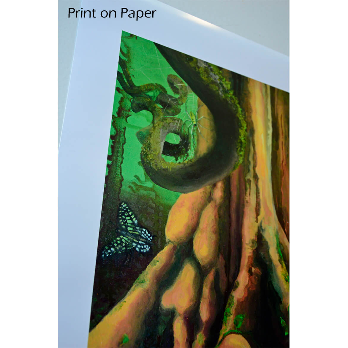 Nature in painting, print on paper