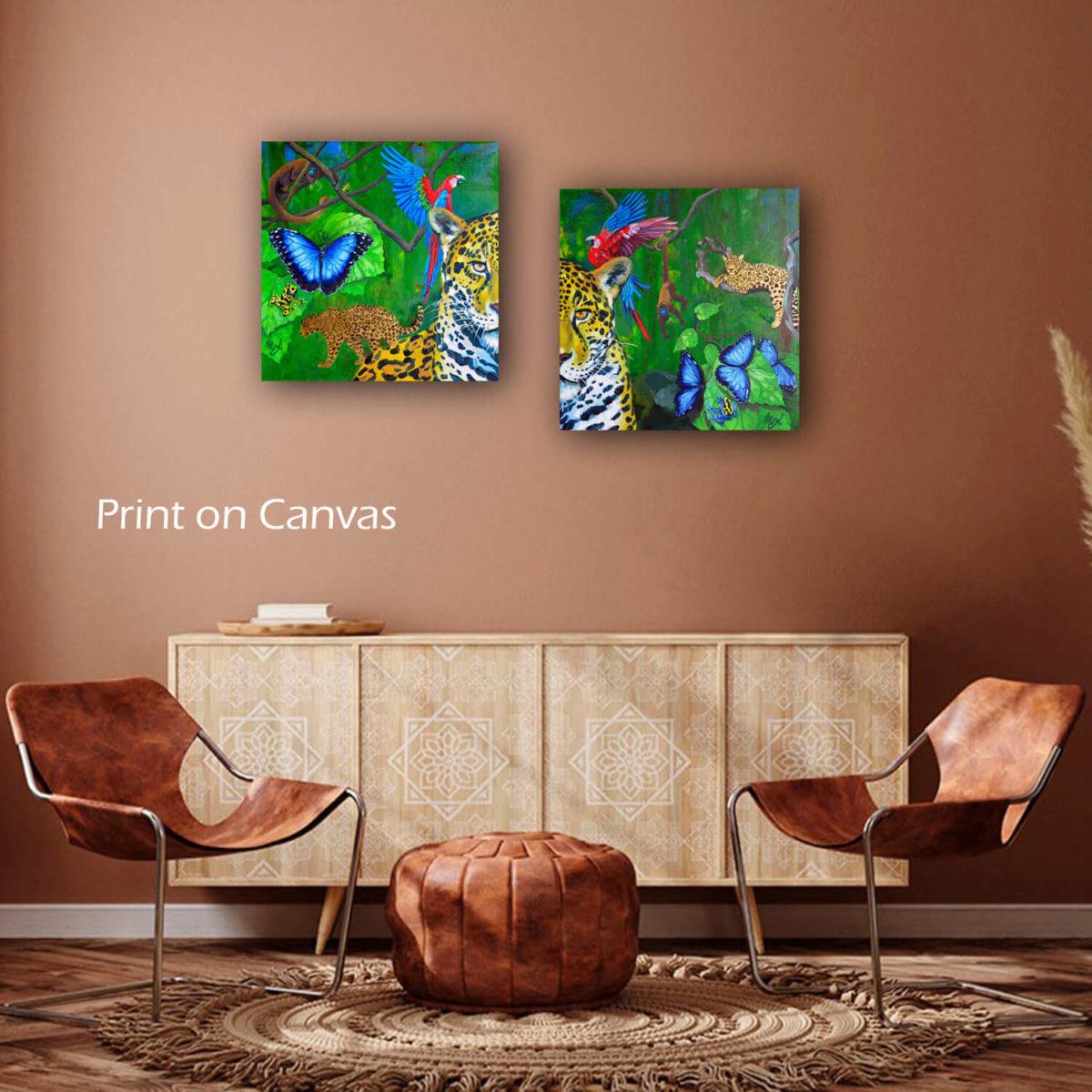 Jaguar painting at home-prints