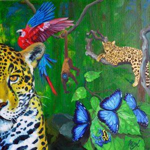 Jaguar of Amazon painting