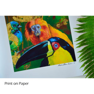 Wildlife art, printed and handsigned
