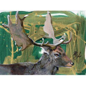 Wildlife art of a deer.