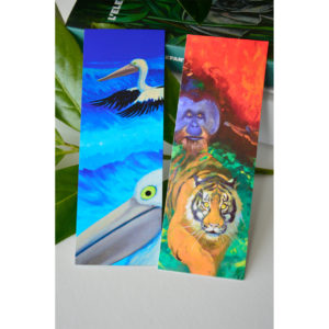 two bookmarks with wildlife theme.