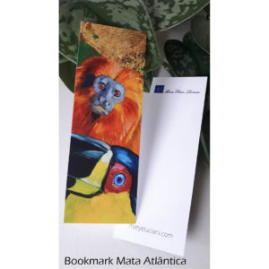 Colorful nature art as bookmark.