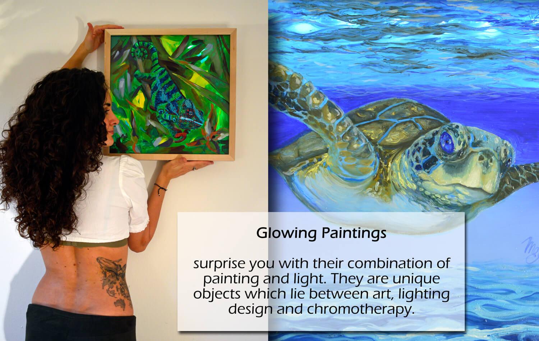 Glowing Paintings